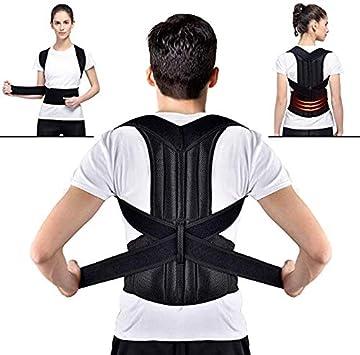 GUOYIHUA Postura de la Espalda Correa de Soporte correctora Postura ortopédica Corsé Soporte de la Espalda Hombres de Apoyo Enderezadora Redonda Hombro Redondo Mejore cómodamente