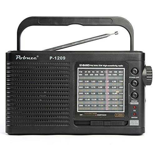 quency modulated Medium Wave Short Wave High Volume Portable Elderly, 3A Battery Powered AOYS ()