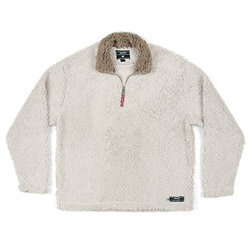 Southern Marsh Appalachian Pile Sherpa Pullover, Oatmeal, Small (Pullover Pile Fleece)