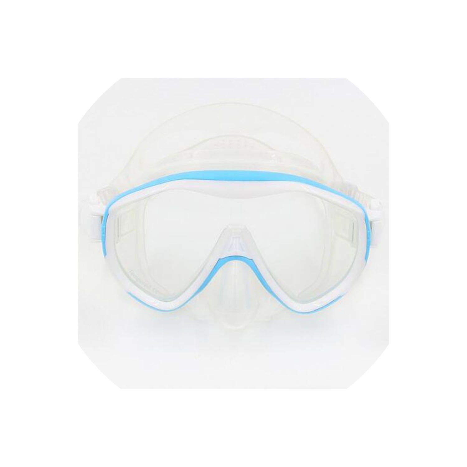 Fly-Town Large Frame Mask Silicone Goggles for Diving Anti-Fog Waterproof Glasses Snorkel mask Scuba Gear Goggles,Light Blue by Fly-Town