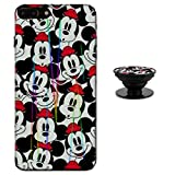 Mickey Mouse Faces iPhone 7 Plus / 8 Plus Case Shiny Laser Style Protective TPU Cover Soft Rubber Silicone with Phone Holder Bracket Compatible iPhone 7/8 Plus (5.5 inch)