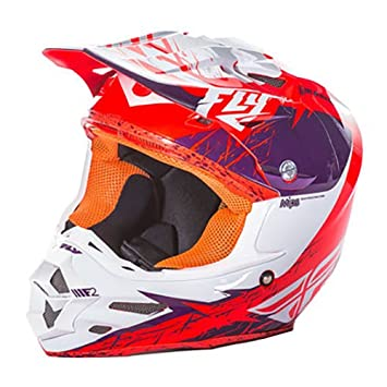 Fly Racing F2 Carbon MIPS Retrospect adultos casco, morado/naranja, tamaño XL
