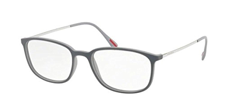412c8046152 Prada Sport PS03HV Eyeglasses VIM1O1 Dark Grey Lt Grey Rubber 55-18-140   Amazon.co.uk  Shoes   Bags