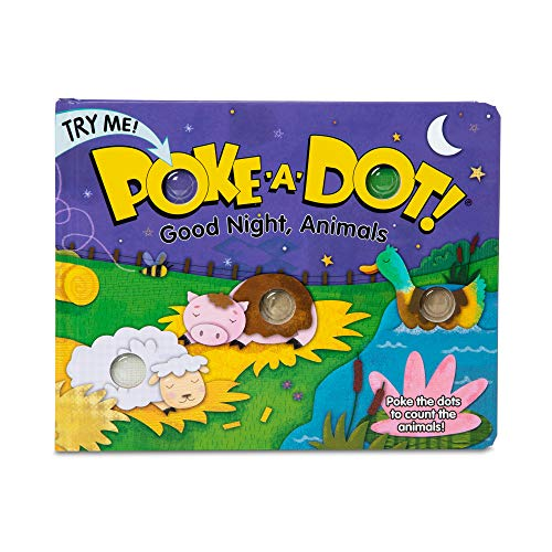 Melissa & Doug Children's Book – Poke-a-Dot: Goodnight, Animals (Board Book with Buttons to Pop, Great Gift for Girls and Boys – Best for 3, 4, 5 Year Olds and Up)