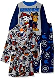 Nickelodeon Boys' Little Paw Patrol 3-Piece Robe Pajama Set, Pawsome Gray, 4