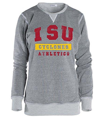 - Venley Official NCAA Iowa State University Cyclones ISU Fight Women Boyfriend Fit Adult Cozy Full Sleeve Crewneck Triblend O-Neck Durable Premium Sweatshirt