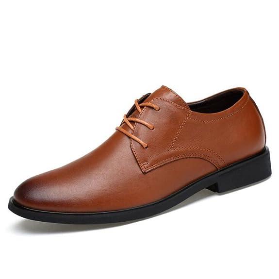 Zapatillas De Vestir Simples para Hombre Zapatos De Punta con Cordones: Amazon.es: Zapatos y complementos