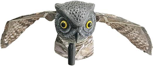 Búho señuelo con alas movimiento Control de aves repelente al Pest Disuasión espantapájaros ahuyentador: Amazon.es: Jardín
