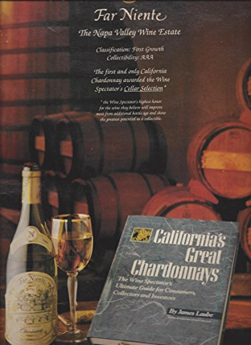 --PRINT AD-- For 1990 Far Niente Chardonnay Napa Valley Wines --PRINT AD--