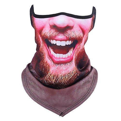 3D Face Sun Mask, Neck Gaiter, Headwear, Magic