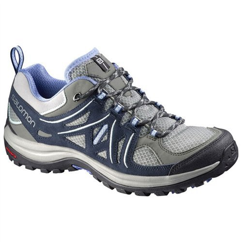 Salomon Women's Ellipse 2 Aero Hiking Shoes Titanium/Deep Blue/Petunia Blue 8.5 Aero Hiking Shoes
