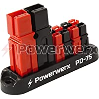 Powerwerx PD-75 75A Input 4 Position Distribution Block for 15/30/45A Powerpole Connectors