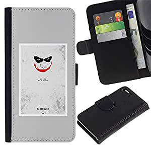 APlus Cases // Apple Iphone 4 / 4S // Joker asustadizo cara espeluznante Sonrisa Póster // Cuero PU Delgado caso Billetera cubierta Shell Armor Funda Case Cover Wallet Credit Card