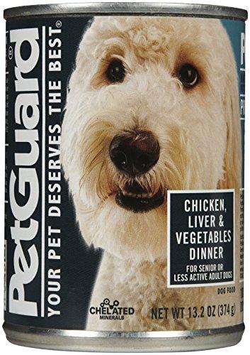 Petguard Chicken, Liver & Vegetables Dinner - Senior/Less Active - 12X13.2Oz