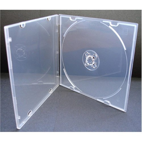Clear Poly Case - 5.2mm Slim Single Clear PP Poly Cases 200 Pack with Outer Sleeves