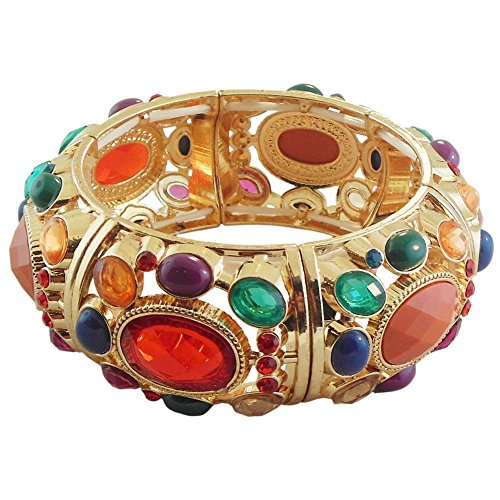 Jeweled Cuff Bracelet - GirlPROPS(R) 1 1/8