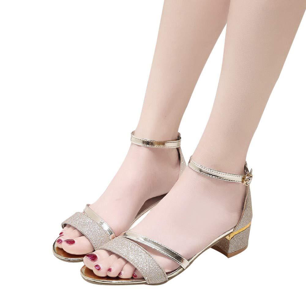 En tant que que que photo LXDABAOFA Sandales Femmes,Sandales Femmes Fashion Paillettes à Bride MesLes Les dames Sandales d'été d'or Parti Femmes Chaussures Sandales bc6