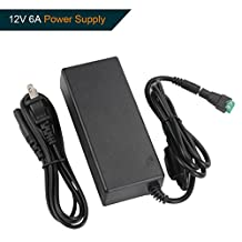 Signcomplex 12V 6A Power Supply Transformer, 12VDC LED Driver Switching Power Supply Adapter for LED Strip Light 72W Max US Plug, UL Listed