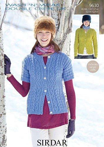 532a2d80f Sirdar Wash n Wear DK Women s Cardigans Knitting Pattern 9630  Amazon.co.uk   Kitchen   Home