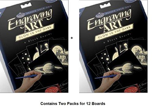 Glow in the Dark Foil Engraving Art Blank Boards 5