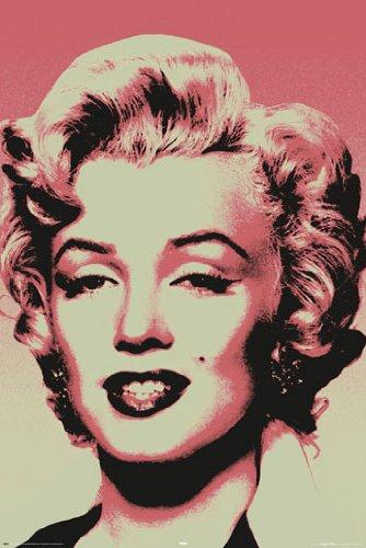 Marilyn Monroe Pink Pop Art PAPER POSTER measures 36 x 24 in