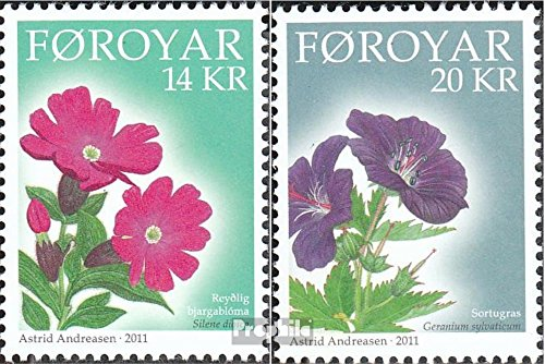 Denmark - Faroe Islands 724-725 (Complete.Issue.) 2011 Mountain Flowers (Stamps for Collectors) Plants