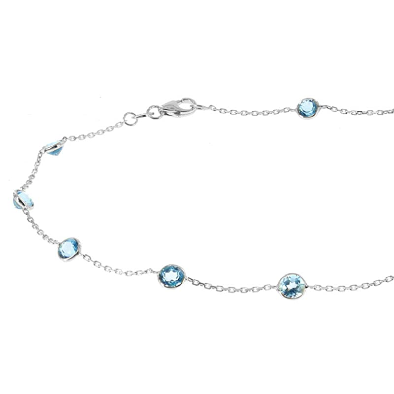 Blue Turquoise Anklet HandmadeWhite Seed Bead Ankle BraceletBody JewelryBlue Gemstone Bracelet AnkleGift For HerWhite And BlueBeaded