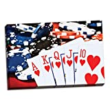 Poker Hand II, Fine Art Photograph By: C. Thomas McNemar; One 36x24in Hand-Stretched Canvas