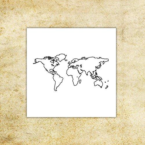 Mapa del Mundo - Tatuaje temporal (conjunto de 2): Amazon.es: Handmade