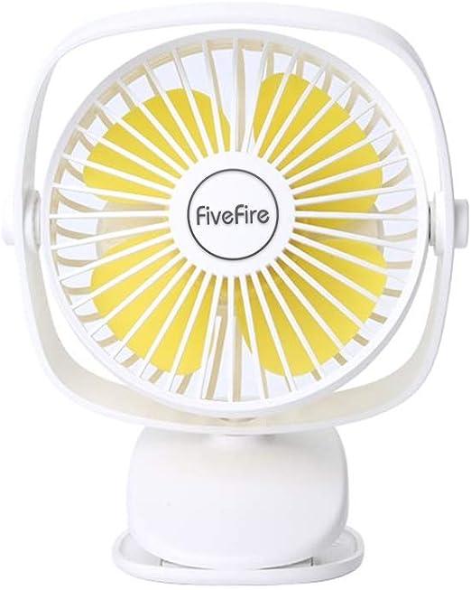 FiveFire [2019 Ventilador de Clip, Funciona con Pilas ...