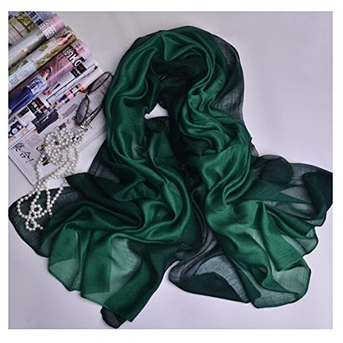 HYL World Women's Fashion Long Scarf Shawl Silk Beach Wrap - Green