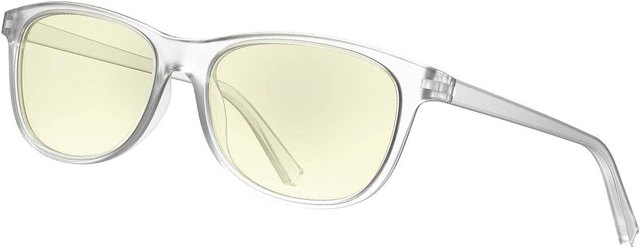 Avoalre Gafas Anti Luz Azul Transparente Gafas Unisex Ligeras para Hombre y Mujer de Oficina, Antifatiga y Protección de Vista Cansada para Pantalla Móvil Ordenador, Marco Transparente