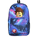 SP Cos Roblox Schoolbag Backpack Kids Students Bookbag Handbags Travelbag (rb-p-b sky)