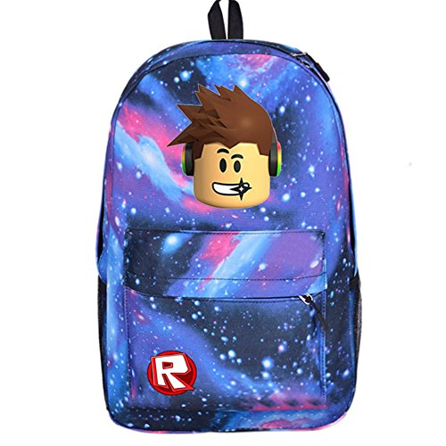 SP Cos Roblox Schoolbag Backpack Kids Students Bookbag Handbags Travelbag (rb-p-b sky) by SP