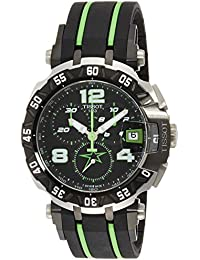 Men's 'T-Race' Swiss Quartz Stainless Steel and Rubber Casual WatchMulti Color (Model: T0924172705701)
