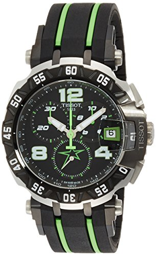 Tissot Men's 'T-Race' Swiss Quartz Stainless Steel and Rubber Casual watchMulti Color (Model: T0924172705701)