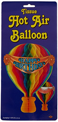 Tissue Hot Air Balloon Party Accessory (1 count) (Hot Air Balloon Costumes)