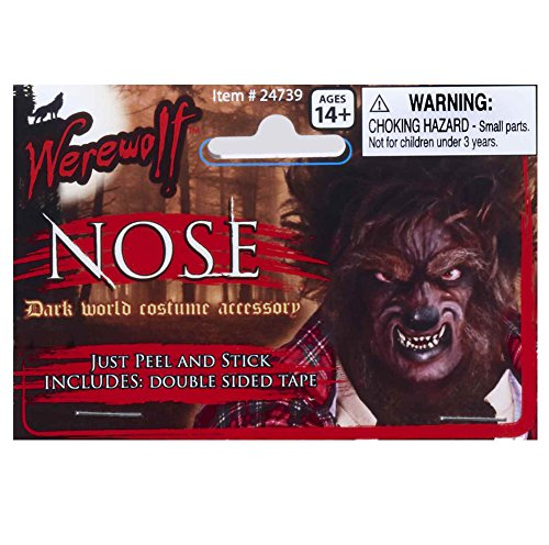 Adult Latex Werewolf Wolfman Nose Costume (Wolfman Prosthetic)