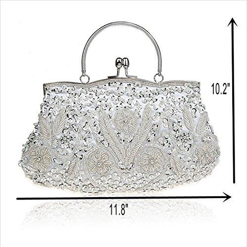 Evening Pochette femme Silver Bag pour SSMK q70xEdTwT