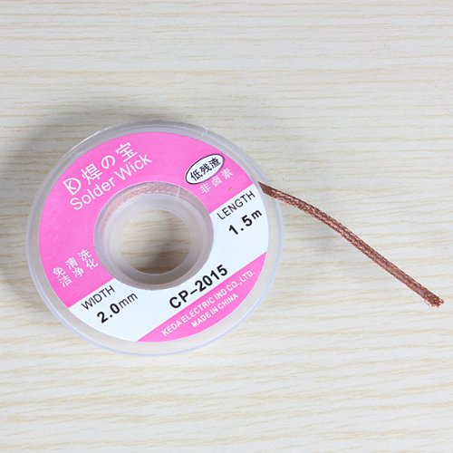 2.0mm 1m Desoldering Braid Solder Remover Wick Cable Wire