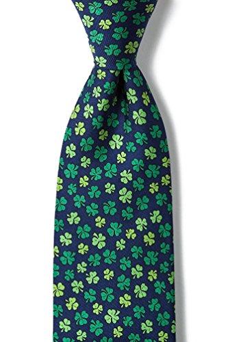 Navy Blue Silk Tie | Shamrock'd Necktie
