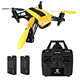 DEERC Racing Drone Quadcopter 2.4GHz 6-Axis Gyro Speed Up to 50KMH with Headless Mode Low Power Alert Function Nano Drone for Adults Mini RC Helicopters Ready to Fly