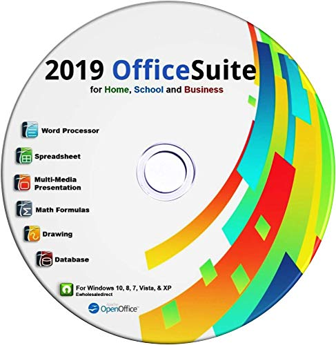 (2019 Office Suite CD for Home Student Professionals and Business, Compatible with Microsoft Office for Windows 10 8 7 powered by Apache OpenOfficeTM)