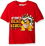 Nintendo Little Boys Bowser My Game is Next Level T-shirt, Red, 5/6