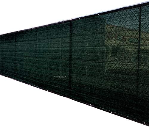 8 x25 Black Fence Privacy Screen Windscreen Cover Shade Cloth Mesh Fabric Slats