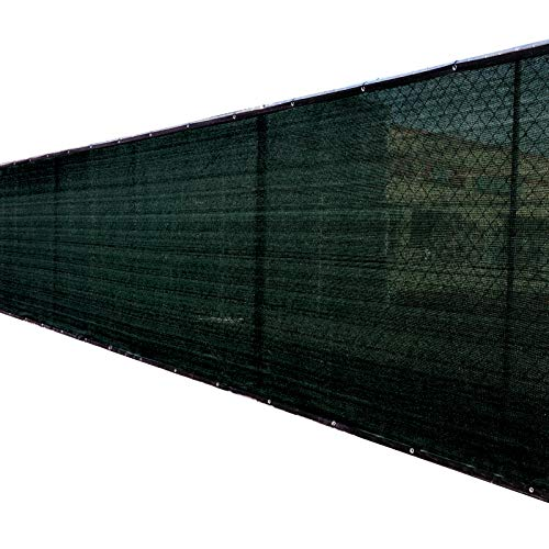 Fence4ever 6' x 50' 3rd Gen Black Fence Privacy Screen Windscreen Shade Fabric Mesh Netting Tarp (Aluminum Grommets)