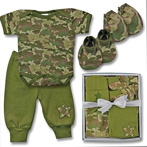 Woodland Baby Camo Baby Boy Pant Outfit Gift Set 0-3 Months (Infant Camo Woodland)