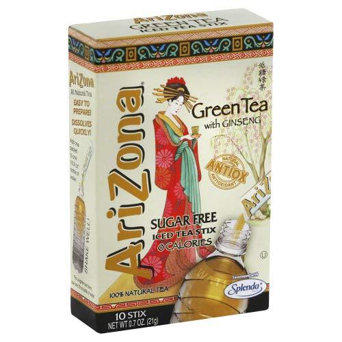 - Arizona Iced Tea Powder Stix Green Sugar Free 0.7 OZ (Pack of 4)
