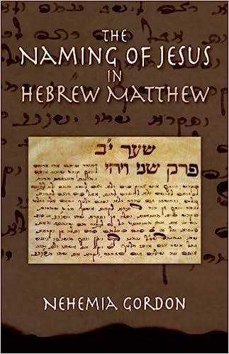 The naming of jesus in hebrew matthew nehemia gordon 9780976263739 the naming of jesus in hebrew matthew nehemia gordon 9780976263739 amazon books reheart Gallery