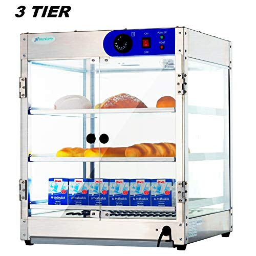 24 Inch Commercial Countertop Hot Food Warmer Display Case for Restaurant Heated Cabinet Pizza Empanda Pastry Patty 20Lx20Wx24H ()